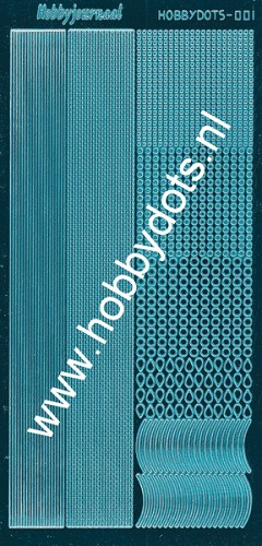 Hobbydots - Stickervel - Mirror Turquoise - Serie 1 (stdm01D)