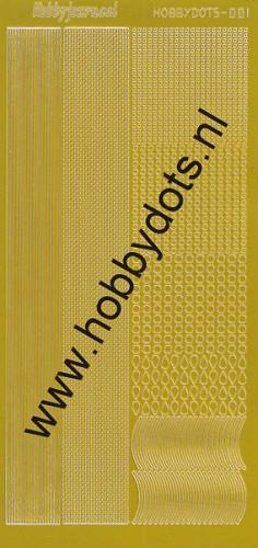 Hobbydots - Stickervel - Mirror Yellow - Serie 1 (stdm01E)