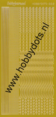 Hobbydots - Stickervel - Mirror Yellow - Serie 2 (stdm02E)
