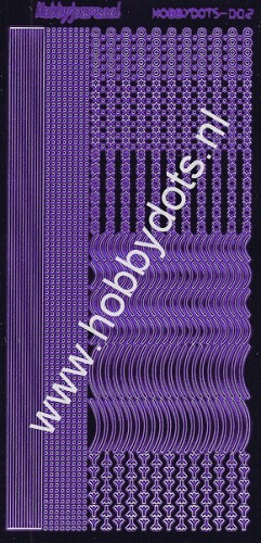 Hobbydots - Stickervel - Mirror Purple - Serie 2 (stdm029)