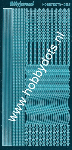 Hobbydots - Stickervel - Mirror Turquoise - Serie 2 (stdm02D)
