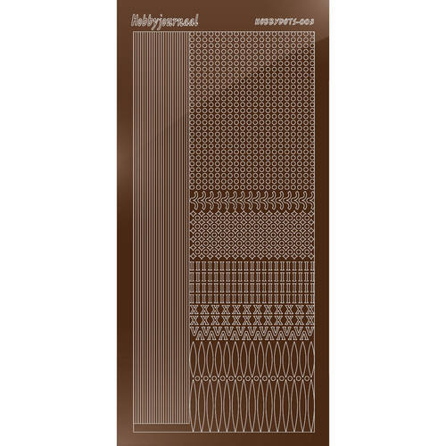 Hobbydots - Stickervel - Mirror Brown - Serie 3 (stdm03G)