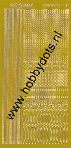 Hobbydots - Stickervel - Mirror Yellow - Serie 3 (stdm03E)