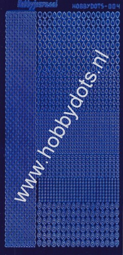 Hobbydots - Stickervel - Mirror Blue - Serie 4 (stdm049)
