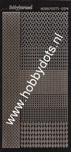 Hobbydots - Stickervel - Mirror Brown - Serie 4 (stdm04G)