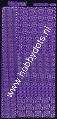 Hobbydots - Stickervel - Mirror Purple - Serie 4 (stdm049)