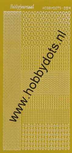 Hobbydots - Stickervel - Mirror Yellow - Serie 4 (stdm04E)