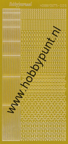 Hobbydots - Stickervel - Mirror Yellow - Serie 5 (stdm05E)