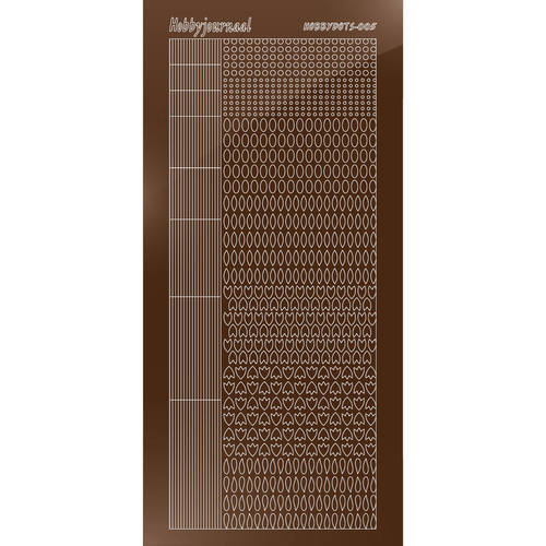 Hobbydots - Stickervel - Mirror Brown - Serie 5 (stdm05G)