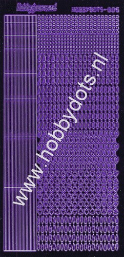 Hobbydots - Stickervel - Mirror Purple - Serie 5 (stdm059)