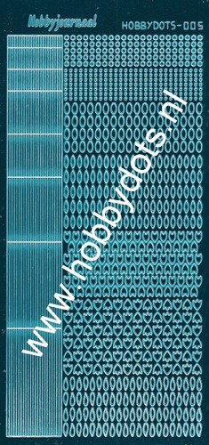 Hobbydots - Stickervel - Mirror Turquoise - Serie 5 (stdm05D)