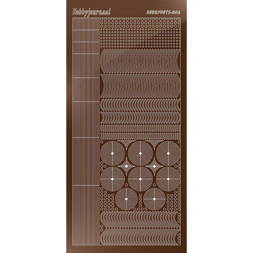 Hobbydots - Stickervel - Mirror Brown - Serie 6 (stdm06G)