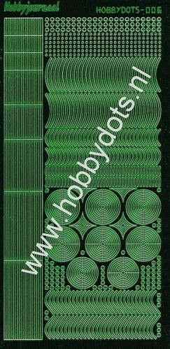 Hobbydots - Stickervel - Mirror Green - Serie 6 (stdm062)