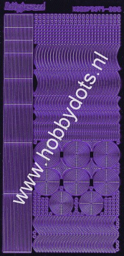 Hobbydots - Stickervel - Mirror Purple - Serie 6 (stdm069)