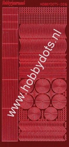 Hobbydots - Stickervel - Mirror Red - Serie 6 (stdm064)