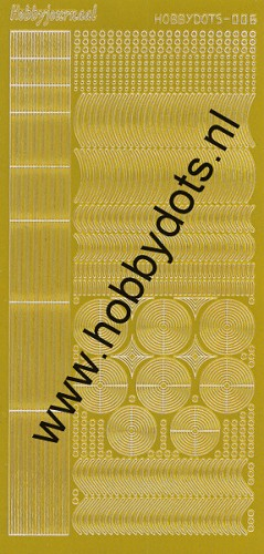 Hobbydots - Stickervel - Mirror Yellow - Serie 6 (stdm06E)