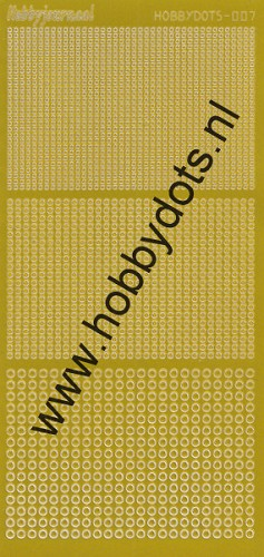 Hobbydots - Stickervel - Mirror Yellow - Serie 7 (stdm07E)