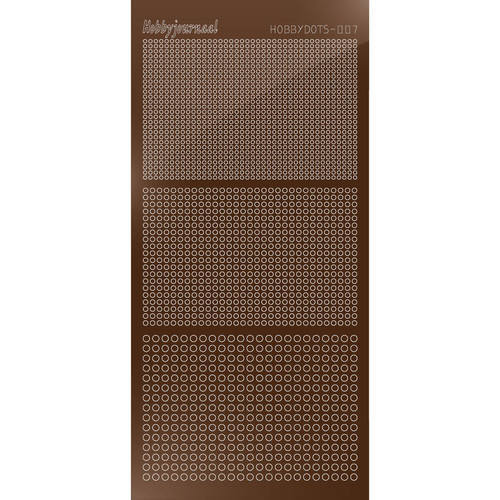 Hobbydots - Stickervel - Mirror Brown - Serie 7 (stdm07G)