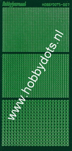 Hobbydots - Stickervel - Mirror Green - Serie 7 (stdm072)