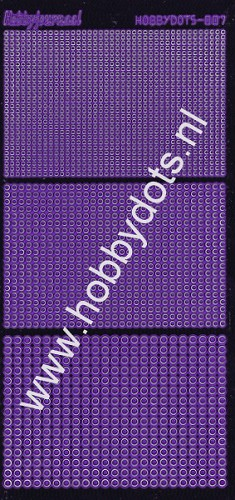 Hobbydots - Stickervel - Mirror Purple - Serie 7 (stdm079)