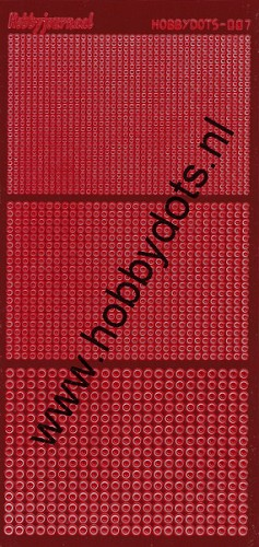 Hobbydots - Stickervel - Mirror Red - Serie 7 (stdm074)