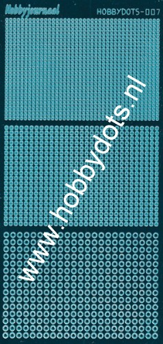 Hobbydots - Stickervel - Mirror Turquoise - Serie 7 (stdm07D)