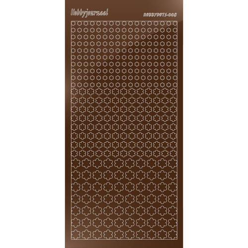 Hobbydots - Stickervel - Mirror Brown - Serie 8 (stdm08G)