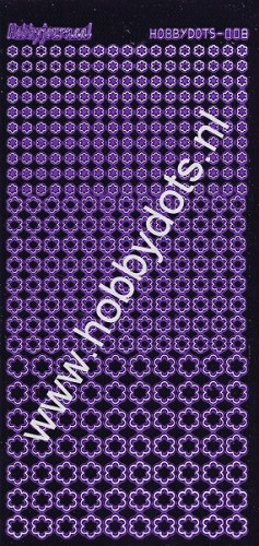 Hobbydots - Stickervel - Mirror Purple - Serie 8 (stdm089)