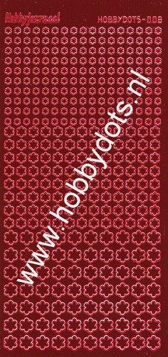 Hobbydots - Stickervel - Mirror Red - Serie 8 (stdm084)
