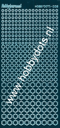 Hobbydots - Stickervel - Mirror Turquoise - Serie 8 (stdm08D)