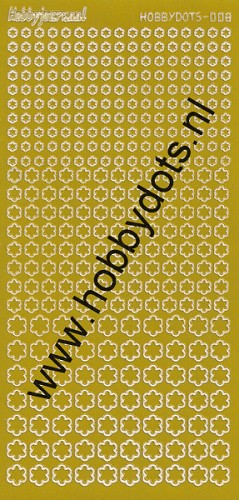 Hobbydots - Stickervel - Mirror Yellow - Serie 8 (stdm08E)