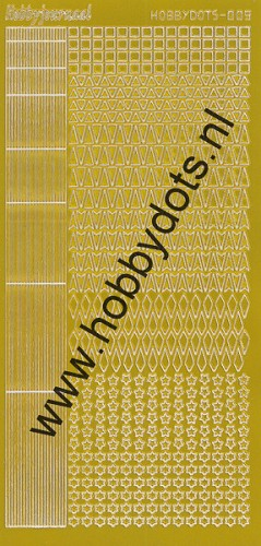 Hobbydots - Stickervel - Mirror Yellow - Serie 9 (stdm09E)