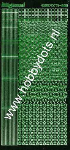 Hobbydots - Stickervel - Mirror Green - Serie 9 (stdm092)