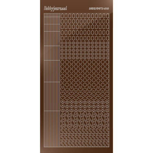 Hobbydots - Stickervel - Mirror Brown - Serie 10 (stdm10G)