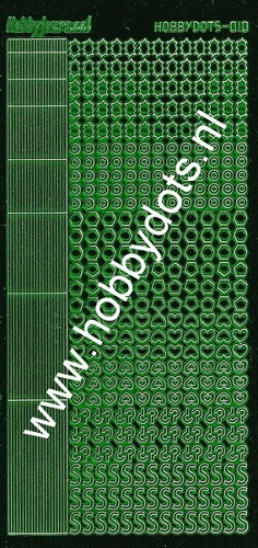 Hobbydots - Stickervel - Mirror Green - Serie 10 (stdm102)