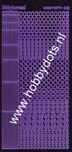 Hobbydots - Stickervel - Mirror Purple - Serie 10 (stdm109)
