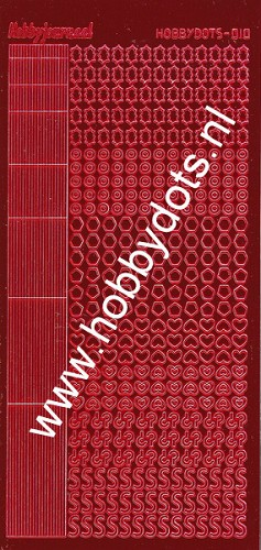 Hobbydots - Stickervel - Mirror Red - Serie 10 (stdm104)