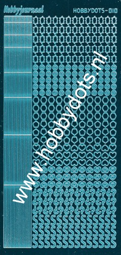 Hobbydots - Stickervel - Mirror Turquoise - Serie 10 (stdm10D)