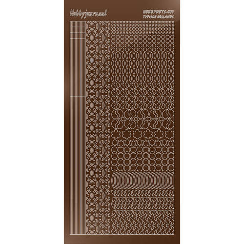 Hobbydots - Stickervel - Mirror Brown - Serie 11 (stdm11G)