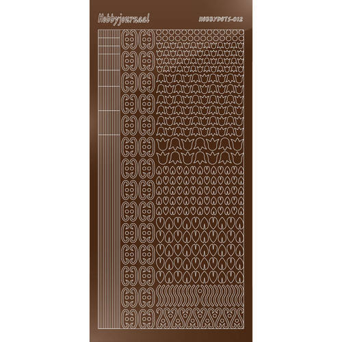 Hobbydots - Stickervel - Mirror Brown - Serie 12 (stdm12G)