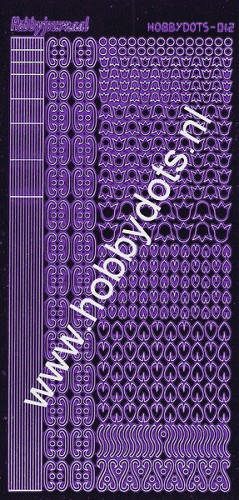 Hobbydots - Stickervel - Mirror Purple serie 12 (stdm129)