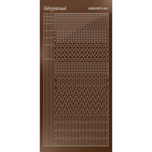 Hobbydots - Stickervel - Mirror Brown - Serie 13 (stdm13G)