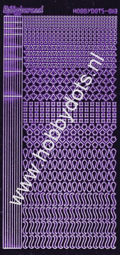 Hobbydots - Stickervel - Mirror Purple - Serie 13 (stdm139)