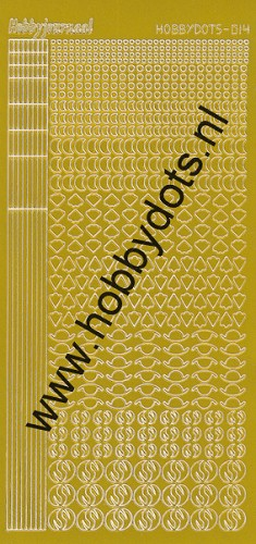 Hobbydots - Stickervel - Mirror Yellow - Serie 14 (stdm14E)