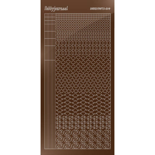 Hobbydots - Stickervel - Mirror Brown - Serie 14 (stdm14G)