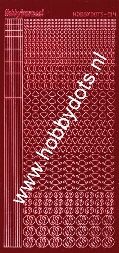 Hobbydots - Stickervel - Mirror Red - Serie 14 (stdm144)