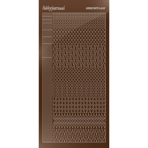 Hobbydots - Stickervel - Mirror Brown - Serie 15 (stdm15G)