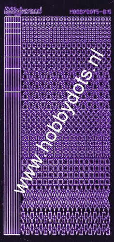 Hobbydots - Stickervel - Mirror Purple - Serie 15 (stdm159)