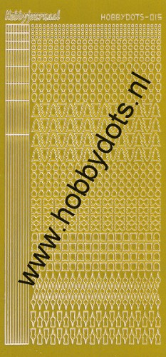 Hobbydots - Stickervel - Mirror Yellow - Serie 15 (stdm15E)