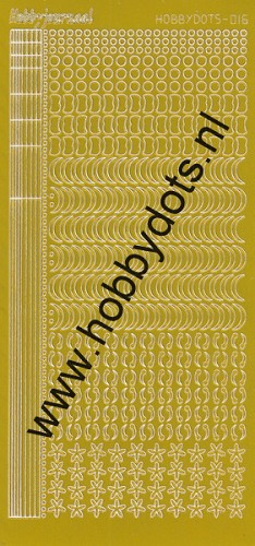Hobbydots - Stickervel - Mirror Yellow - Serie 16 (stdm16E)